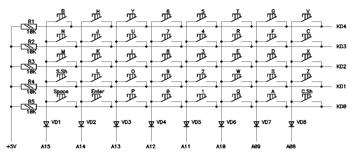схемы для компьютера на микроконтроллерах